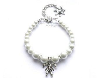 Candy Cane Christmas Charm Bracelet