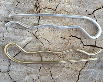 Hair Pin Sterling. Sterling hair pin. Sterling silver hair pin.  Sterling silver hair accessories. Hair pin. Silver bobby pin.