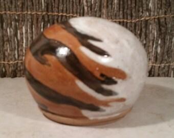 Cremation Urn - Stoneware Cremains Jar - READY to SHIP - Fur Pattern TERRA - Up To 36 lb