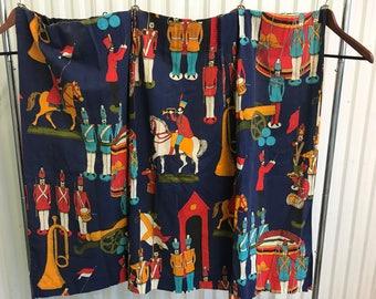 Sears vintage soldier curtains