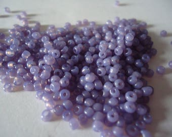 2 mm purple translucent pink seed beads