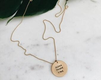 Custom 14k Gold Filled Disc Necklace