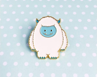 Yeti Enamel Pin - himalayan nepal abominable snowman mythology lapel