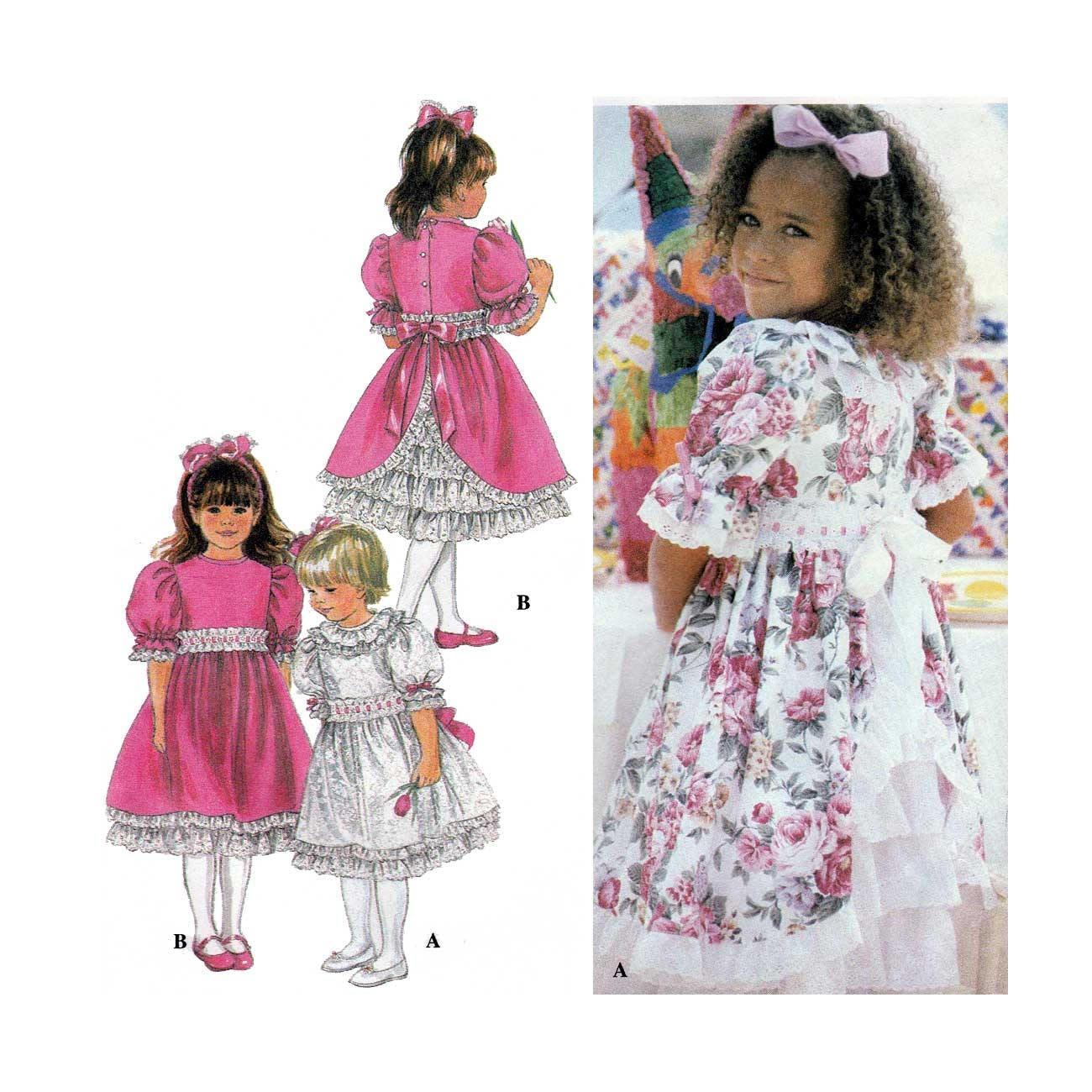 Besonderen Anlass Mädchen Kleid und Petticoat Schnittmuster