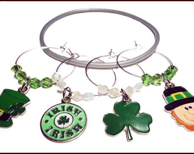 St. Patrick's Day Wine Charms - Pack Of 4