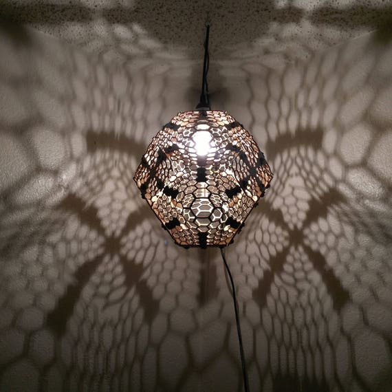 Honeycomb - Hanging Ceiling Pendant Shadow Lamp