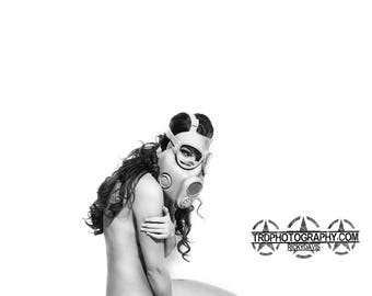 Gas Mask Girl - A Photographic Art Print