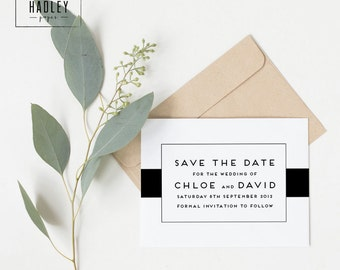 Printable wedding save the date card - Carson collection