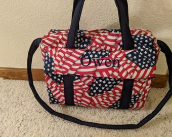 American Flag Diaper Bag with changing pad by EMIJANE
