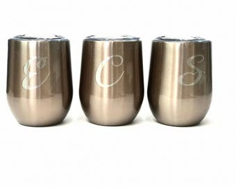 Swig Wine Cups | Swig Wine Tumblers | 9 oz Swig Wine Glasses | Monogrammed Cup Tumbler | Powder Coated Wine Tumbler |