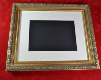 Ornate Gold Picture Frame - Ornate Leaf Design - 8x10 or 11 x 14 All Wood Photo Frame