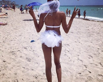Bikini Veil, Hair Veil, Booty Veil, Hen Party