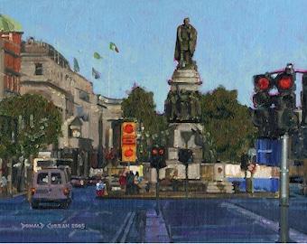 Color Print of Oil Painting, Dublin Street Scene 54, Ireland