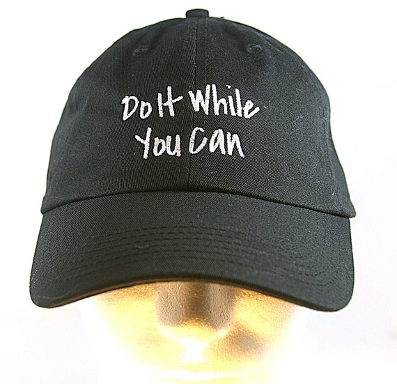 Do It While You Can (Polo Style Ball Black with White Stitching)