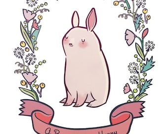 """Bunny for My Hunny, 8.5"""" by 11"""" Archival Print"""