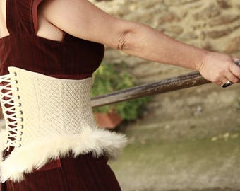 waist cincher feather Swan, OOAK