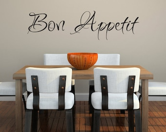 Bon Appetit Decal - Kitchen Decor - French Wall Art - Dining Room Wall Decal