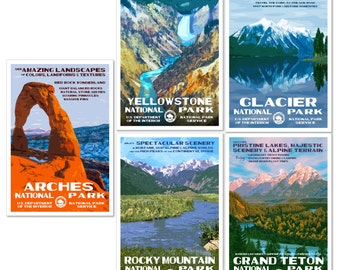 Get 5 National Park Posters, Save 35 Dollars & Get Free Shipping!