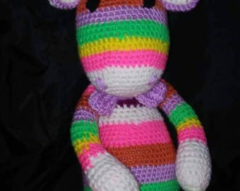 Crochet rainbow giraffe