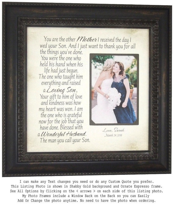 Mother of the Groom Gift from Bride Wedding Gift for In Laws