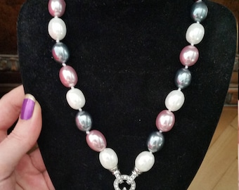 Natural large pearls XXXL necklace baroque pearl