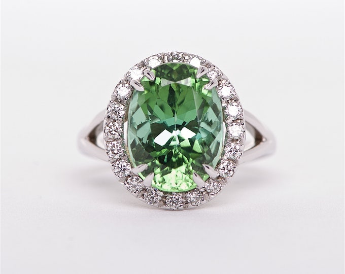 The Graciela - 14K Tourmaline and and Diamond ring