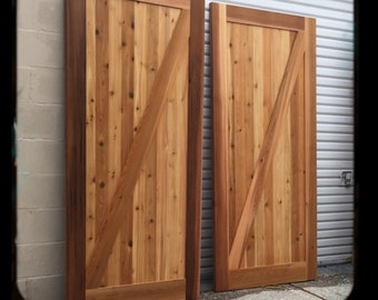 Framed Z Sliding Barn Door