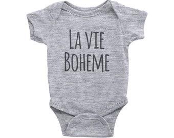 LA VIE BOHEME, Baby Onesie, Rent Musical, Baby shower Gift, Original Gift, New Born, Musical broadway Show, For girl, For boy