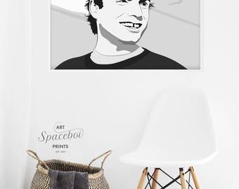 Mac DeMarco Poster, Mac DeMarco Print, Indie Artist, Drawing, Portrait Mac Demarco, Musician Art, Hipster Print, Digital Download