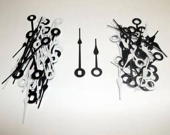 25 Pairs Black/White New Bold Spaded Clock Hands (#12) For Scrapbooking, Steampunk, Embellishment