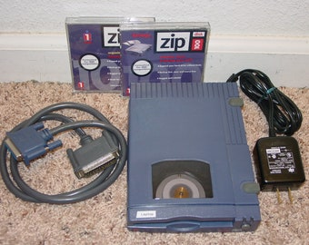 Iomega Zip-100 100MB Portable Parallel Port External Zip Drive Z100P2