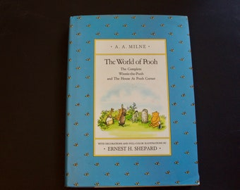 The World of Pooh - AA Milne - Ernest H. Shepherd - 1985 - Hardbound with Dust Cover
