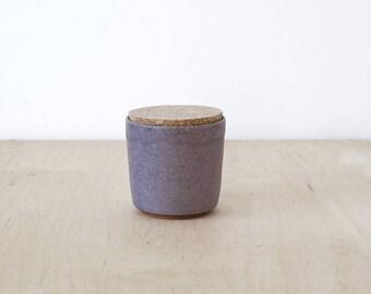 mini cork jar, lavender.