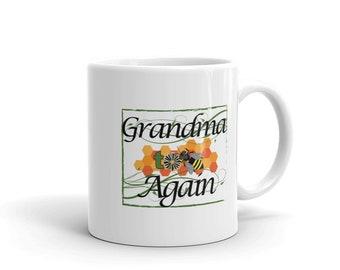 Funny Grandmother Coffee Mug, Grandma To Bee Again, Funny Grandmother To Be