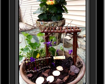 fairy garden,,fairy garden kits,children gifts,fairy bench,fairy furniture,fairy accessories,fey,fairie,fantasy,magic,