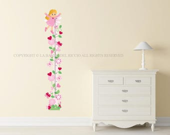 Kids Growth Chart Wall Decals kids Wall Stickers Baby Nursery Room Decor Meter Height Woodland