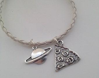 Space bracelet Quirky bracelet Pizza Planet Bracelet - Pizza Bracelet - random bracelet friendship bracelet