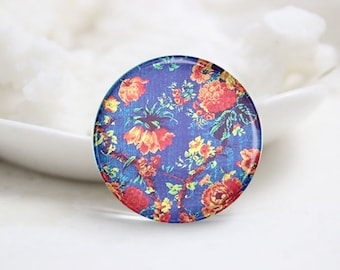 10mm 12mm 14mm 16mm 18mm 20mm 25mm 30mm Handmade Round Photo Glass Cabochons Domes-Flower (P2244)