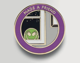 Made a Friend Enamel Pin - Undervalued Achievement Pin - Funny Enamel Pin - Badge - Funny Stocking Stuffer