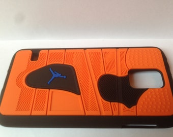 Jordan cell phone cover Samsung S5 Orange phone case NBA