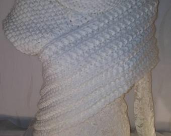Scarf Vest Gr. S-M wool panem Katniss scarf vest Poncho Coat Cape jacket cardigan cardigan Knit jacket hand knitted unique