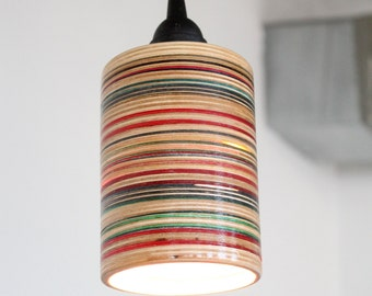 Recycled Skateboard Pendant Lamp