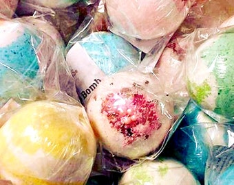 SALE! 6 pack Bath Bombs  - you pick, Mix-and-Match, Packed with skin softening Avocado Oil & Epsom Salts.  Handmade by Soothing Suds