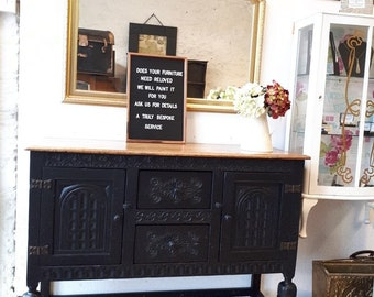 Vintage hand painted sideboard SOLD