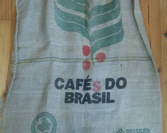 Burlap Potato Sack Cafe Do Brasil Burlap coffee bag sack Heavy Weight Jute