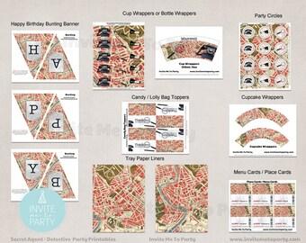 Secret Agent Party Printable Decorations / Spy Party / Detective Party