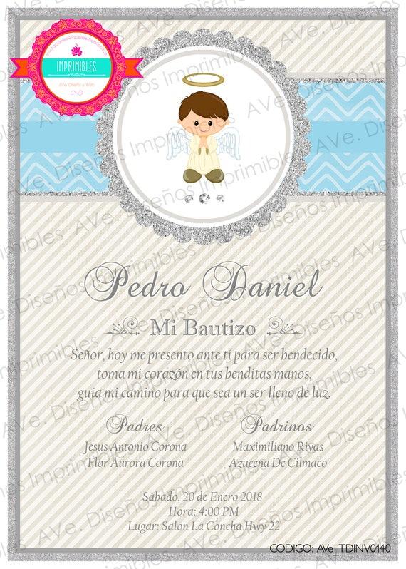 Crear Invitacion De Bautizo