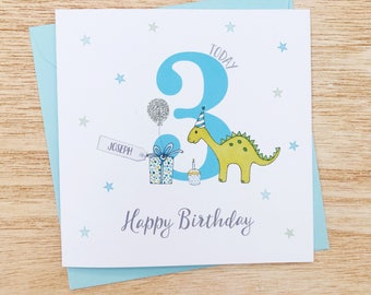 First birthday card etsy personalised childrens birthday card dinosaur birthday cards boys dinosaur birthday card handmade personalised bookmarktalkfo Image collections