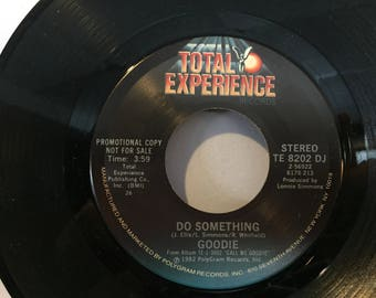 GOODIE Promo 45 RPM Vinyl Record Do Something RARE Promotional Copy Total Experience Records Do Something