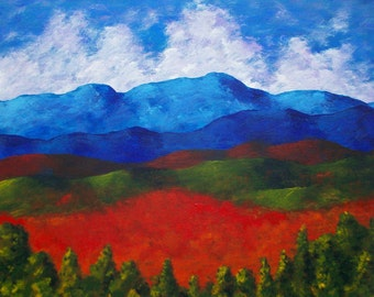 A View of the Blue Mountains of the Adirondacks (ORIGINAL DIGITAL DOWNLOAD) by Mike Kraus